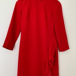 Red dress from Banana Republic